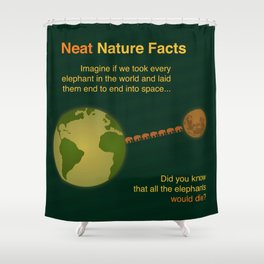 Neat Nature Facts Shower Curtain