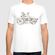 Vintage Indian Motorcycle Mens Fitted Tee White SMALL