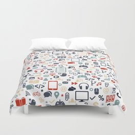 Icon pattern Duvet Cover