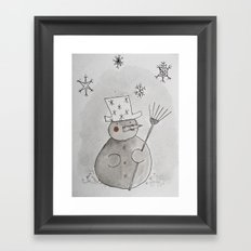 Do you want to build a snowman Framed Art Print