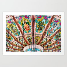 Victorian Carousel Swings Art Detail Art Print