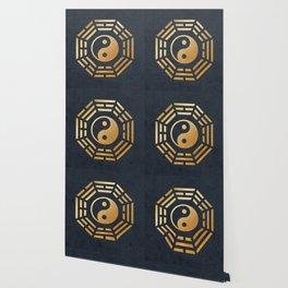 Golden Yin Yang I Ching Wallpaper