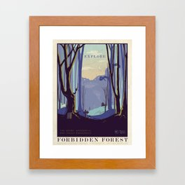 Explore The Forbidden Forest Framed Art Print