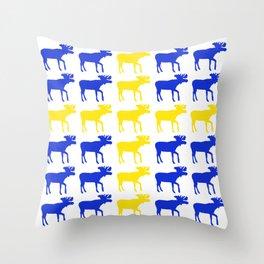 Graphic Swedish Moose Flag II Throw Pillow