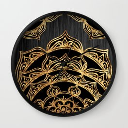 Gold Lace Sunrise Wall Clock