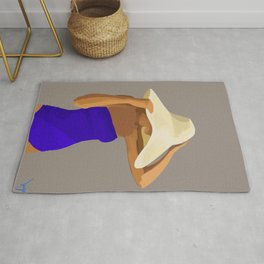 At The Beach: Blue Suit Rug