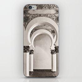 The Historic Arches in the Synagogue of Santa María la Blanca, Toledo Spain iPhone Skin