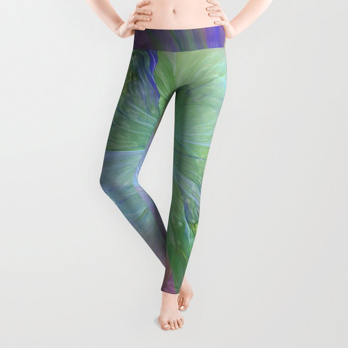 Mystic Warmth Abstract Fractal Leggings