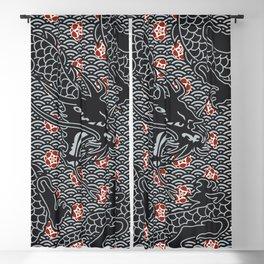 Hidden Dragon / Oriental dragon design Blackout Curtain