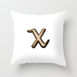 Chocolate Letter X Throw Pillow