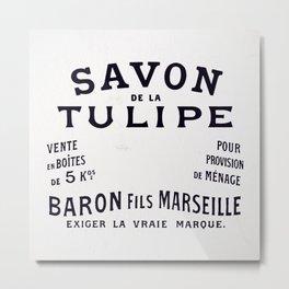 The Savon De La Tulipe Poster Metal Print