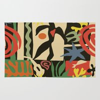 matisse Area & Throw Rugs featuring Inspired to Matisse (vintage) by Chicca Besso
