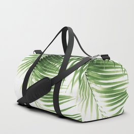 Palm Leaves Green Vibes #9 #tropical #decor #art #society6 Duffle Bag