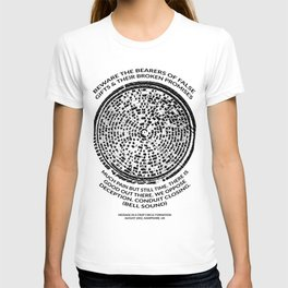 Decoded Crop Circle UFO Alien Message Beware the Bearers of False Gifts UK T-shirt