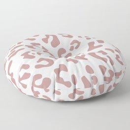 Big Rosy Brown Leopard Spots Floor Pillow