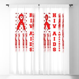 American Flag HIV AIDS Awareness In HIV AIDS Awareness Blackout Curtain