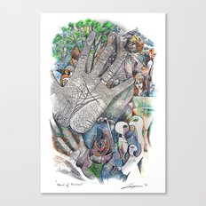 Hand of Good Friend Canvas Print