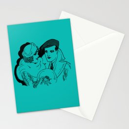 Guy and Gal Pal Around Town Stationery Cards