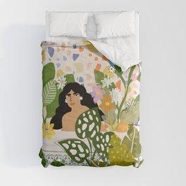 Bathing with Plants Comforters