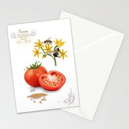 Tomato and Pollinators Stationery Cards