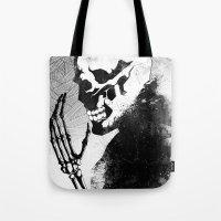 skeleton Tote Bags featuring Skeleton by Jaaaiiro