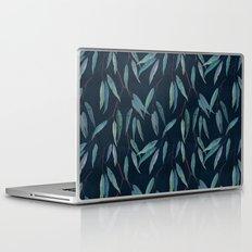 Eucalyptus leaves on navy blue Laptop & iPad Skin