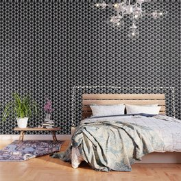 Multi Pattern Black and White Design Wallpaper