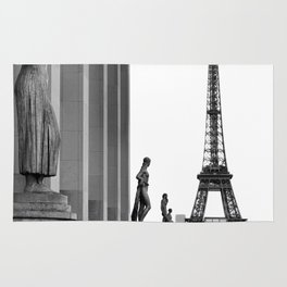 Trocadero Eiffel Tower Paris Rug