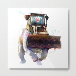 Dozer Bulldozer Metal Print