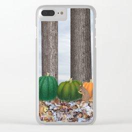 fox squirrels, heirloom pumpkins, & acorns Clear iPhone Case