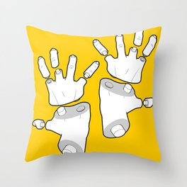 Puzzle Hands Throw Pillow