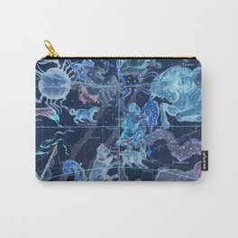 Star Atlas Vintage Constellation Map Pardies Plate 5 negative blue inverted Carry-All Pouch