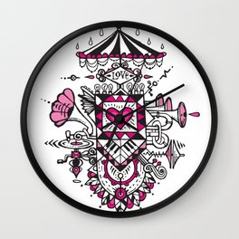 LOVE grows calliope Wall Clock