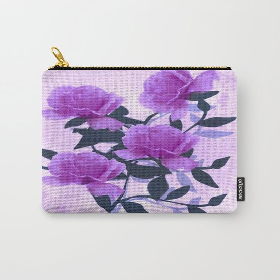 Lavender Floral Love Abstract Carry-All Pouch