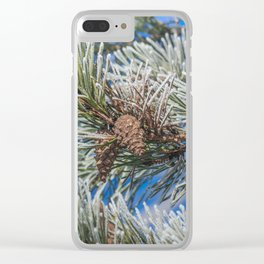 Christmas frost Clear iPhone Case