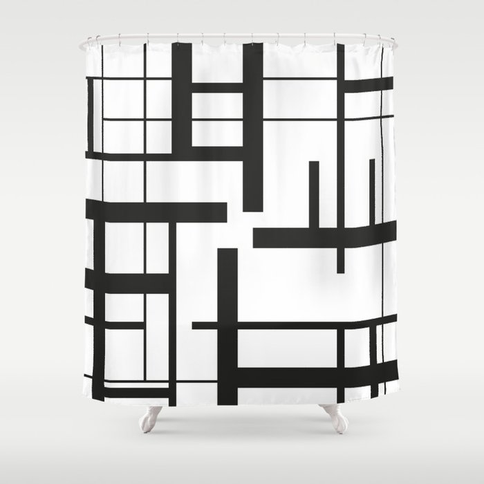 Lines #3 Shower Curtain