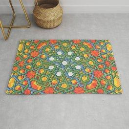 8-Fold Alhambra Pattern Rug