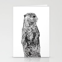 otter Stationery Cards featuring Otter by Meredith Mackworth-Praed
