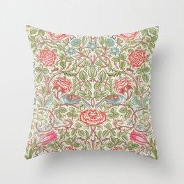 William Morris - Roses - Digital Remastered Edition Throw Pillow
