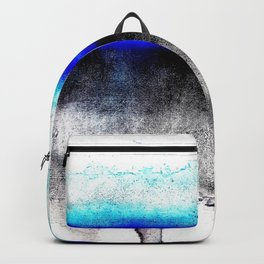 Abstract sunset blue Backpack