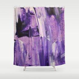 Purple Mess Shower Curtain