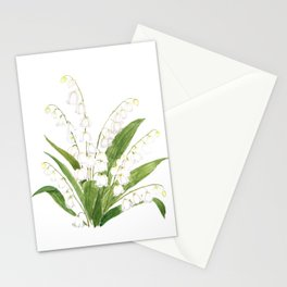 white lily of valley Stationery Cards