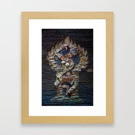 Mosaic Stone Figurine Framed Art Print