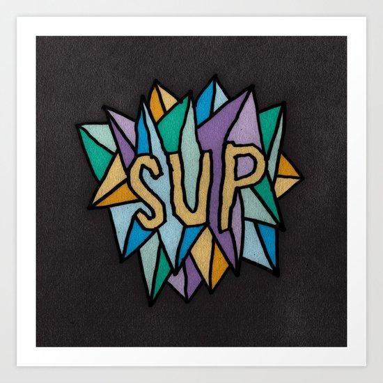 SUP IN SPACE Art Print