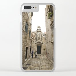 The Quiet Backstreets of Dubrovnik Clear iPhone Case