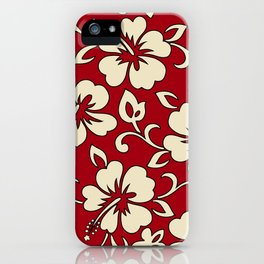 Malia Hawaiian Hibiscus Aloha Shirt Print iPhone Case