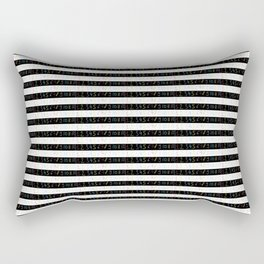 Number 3- count,math,arithmetic,calculation,digit,numerical,child,school Rectangular Pillow