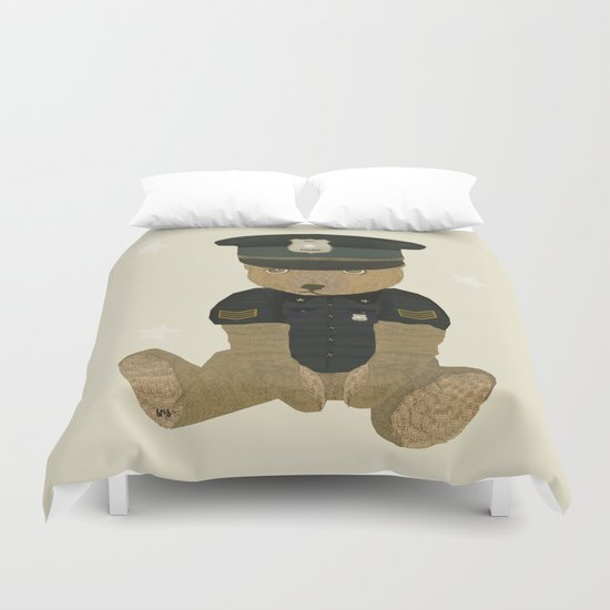 police ted  Duvet Cover