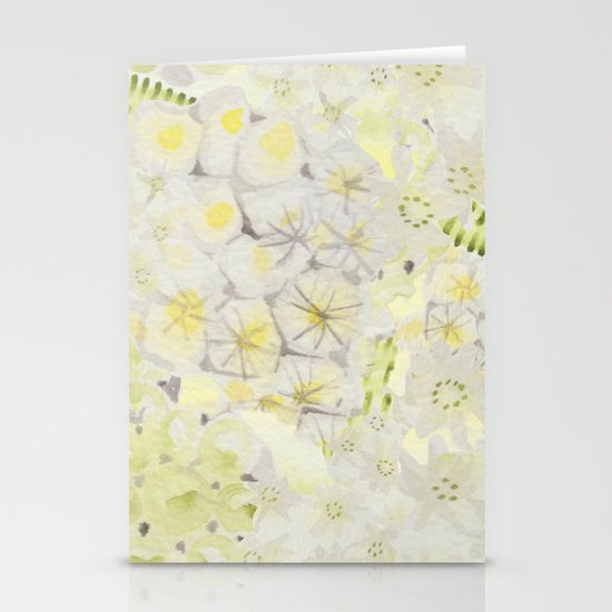 Lemon Abstract Stationery Cards