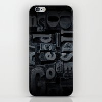 lettering iPhone & iPod Skins featuring LETTERING  by Ylenia Pizzetti